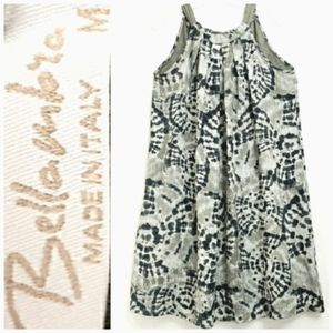 NWOT Bellambia Olive Green/Gray Line Shift Dress